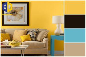Cách phối màu sơn phòng khách