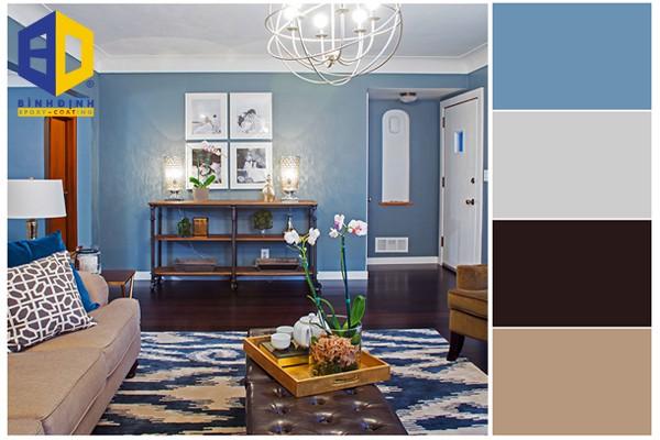 cách phối màu sơn phòng khách theo thiết kế