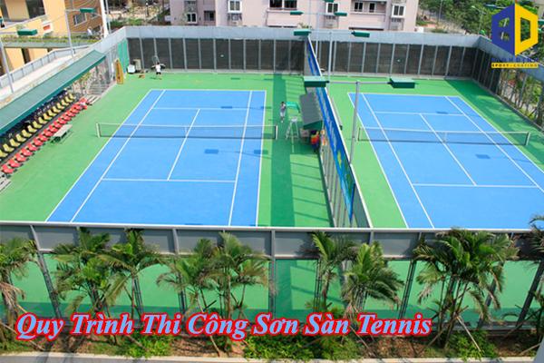 Tìm Hiểu Quy Trình Thi Công Sơn Sàn Tennis