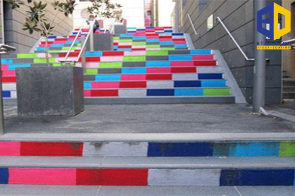 quy trình thi công sơn epoxy cầu thang