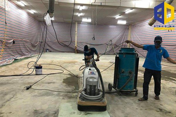 Quy trình thi công sơn sàn epoxy